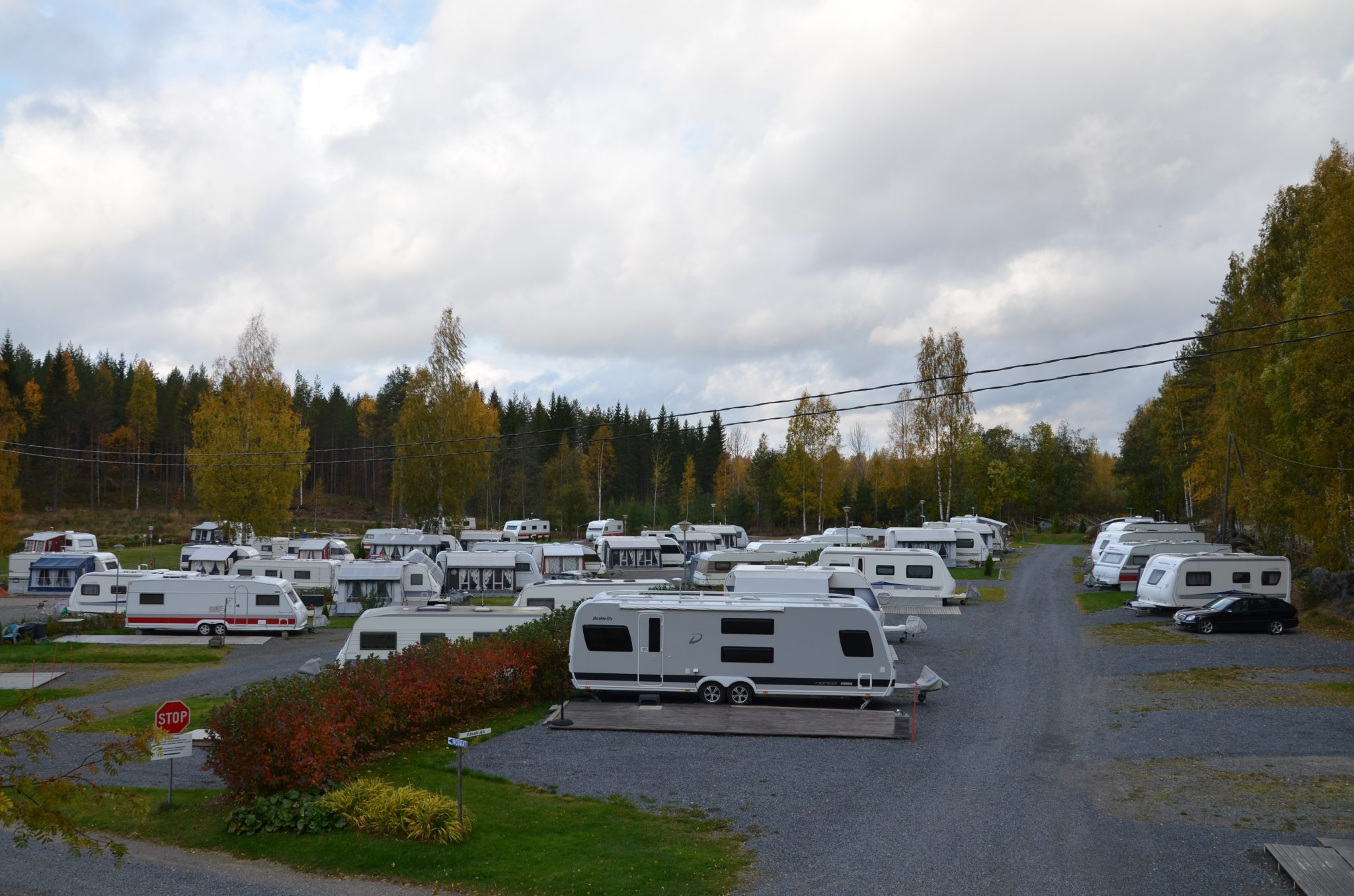 Row of caravans in Etuniemi