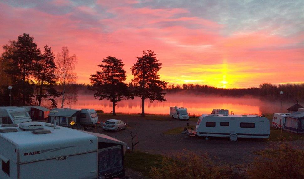 The gorgeous sunrise in Leininranta