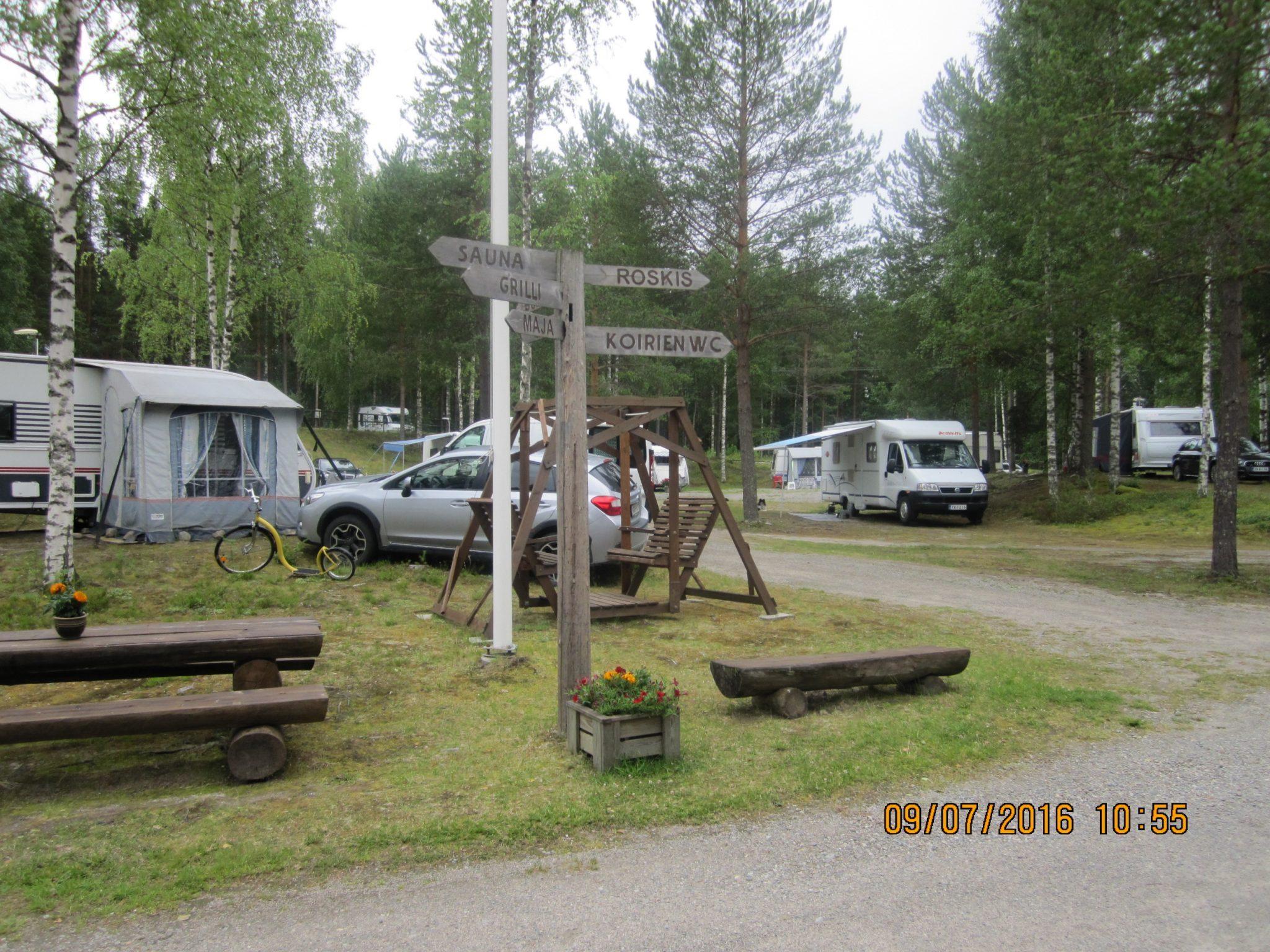 Guide sign in Rekiniemi