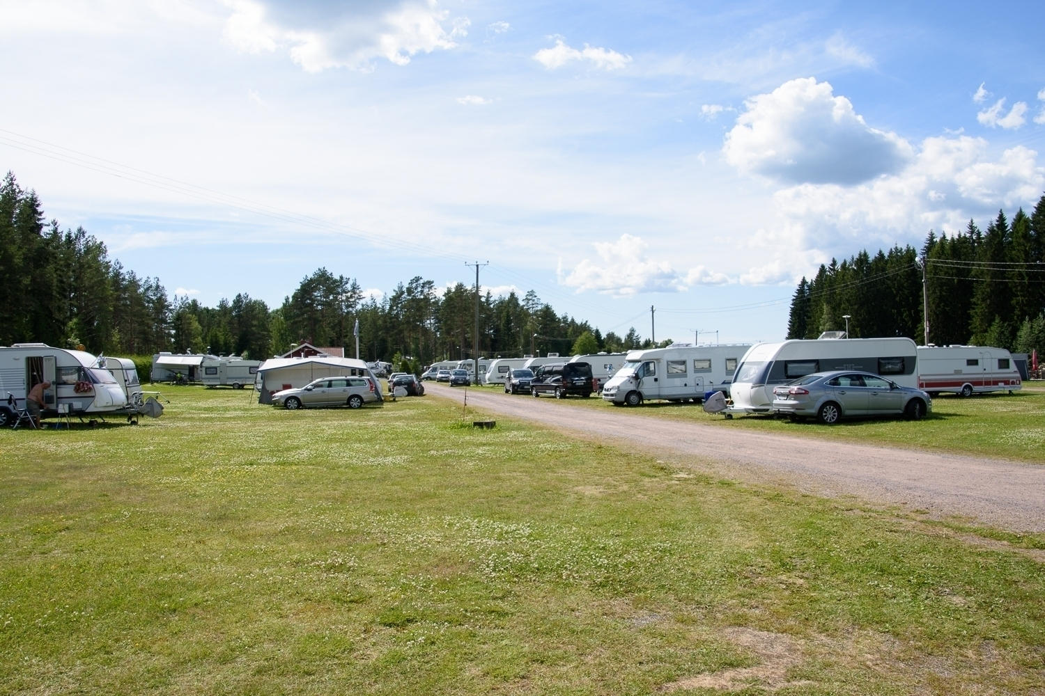 Row of caravans in Krapuranta