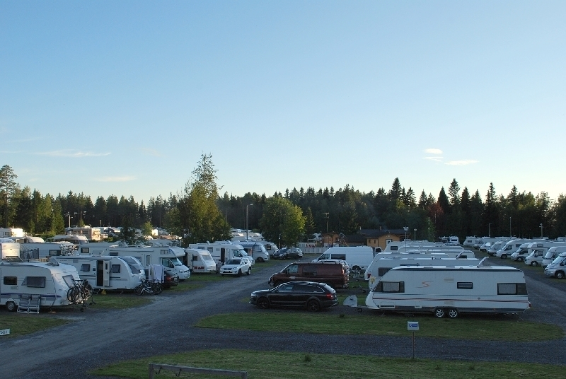 Row of caravans in Rantasarka